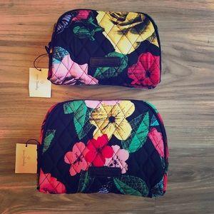 Very Bradley Medium & Small Zip Cosmetic Bags